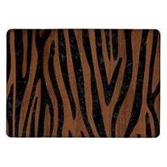 Skin4 Black Marble & Brown Wood Samsung Galaxy Tab 10 1  P7500 Flip Case