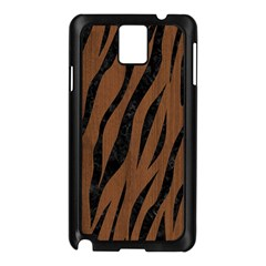 Skin3 Black Marble & Brown Wood (r) Samsung Galaxy Note 3 N9005 Case (black) by trendistuff