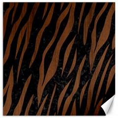 Skin3 Black Marble & Brown Wood Canvas 16  X 16  by trendistuff