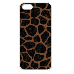 Skin1 Black Marble & Brown Wood (r) Apple Iphone 5 Seamless Case (white) by trendistuff