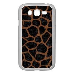 Skin1 Black Marble & Brown Wood (r) Samsung Galaxy Grand Duos I9082 Case (white) by trendistuff