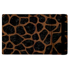 Skin1 Black Marble & Brown Wood (r) Apple Ipad Pro 12 9   Flip Case by trendistuff