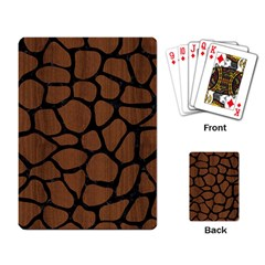 Skin1 Black Marble & Brown Wood Playing Cards Single Design by trendistuff