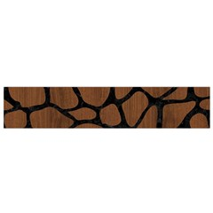 Skin1 Black Marble & Brown Wood Flano Scarf (small) by trendistuff