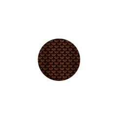 Scales3 Black Marble & Brown Wood (r) 1  Mini Button