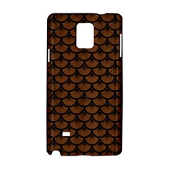 Scales3 Black Marble & Brown Wood (r) Samsung Galaxy Note 4 Hardshell Case by trendistuff