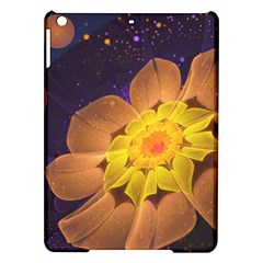 Beautiful Violet & Peach Primrose Fractal Flowers Ipad Air Hardshell Cases by jayaprime