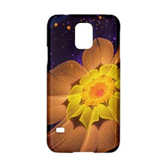 Beautiful Violet & Peach Primrose Fractal Flowers Samsung Galaxy S5 Hardshell Case  by beautifulfractals
