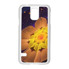 Beautiful Violet & Peach Primrose Fractal Flowers Samsung Galaxy S5 Case (white) by beautifulfractals