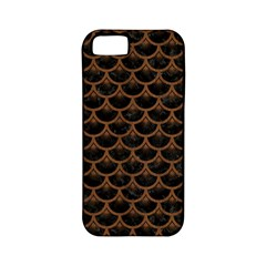 Scales3 Black Marble & Brown Wood Apple Iphone 5 Classic Hardshell Case (pc+silicone) by trendistuff