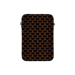 Scales3 Black Marble & Brown Wood Apple Ipad Mini Protective Soft Case by trendistuff
