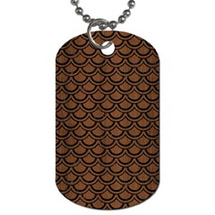 Scales2 Black Marble & Brown Wood (r) Dog Tag (two Sides)