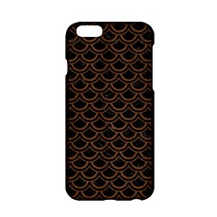 Scales2 Black Marble & Brown Wood Apple Iphone 6/6s Hardshell Case by trendistuff