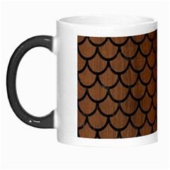 Scales1 Black Marble & Brown Wood (r) Morph Mug by trendistuff