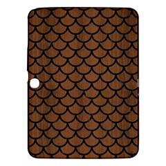 Scales1 Black Marble & Brown Wood (r) Samsung Galaxy Tab 3 (10 1 ) P5200 Hardshell Case  by trendistuff
