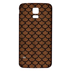 Scales1 Black Marble & Brown Wood (r) Samsung Galaxy S5 Back Case (white) by trendistuff