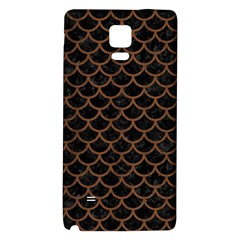 Scales1 Black Marble & Brown Wood Samsung Note 4 Hardshell Back Case by trendistuff