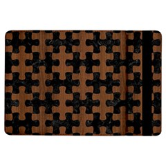 Puzzle1 Black Marble & Brown Wood Apple Ipad Air Flip Case by trendistuff