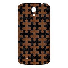 Puzzle1 Black Marble & Brown Wood Samsung Galaxy Mega I9200 Hardshell Back Case by trendistuff