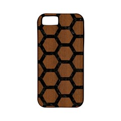 Hexagon2 Black Marble & Brown Wood (r) Apple Iphone 5 Classic Hardshell Case (pc+silicone) by trendistuff