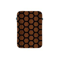 Hexagon2 Black Marble & Brown Wood (r) Apple Ipad Mini Protective Soft Case by trendistuff