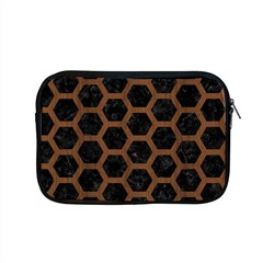 Hexagon2 Black Marble & Brown Wood Apple Macbook Pro 15  Zipper Case by trendistuff