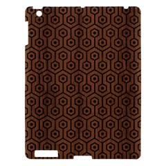 Hexagon1 Black Marble & Brown Wood (r) Apple Ipad 3/4 Hardshell Case by trendistuff