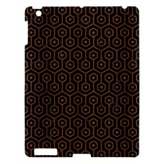 Hexagon1 Black Marble & Brown Wood Apple Ipad 3/4 Hardshell Case by trendistuff