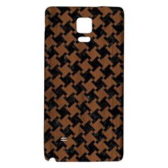 Houndstooth2 Black Marble & Brown Wood Samsung Note 4 Hardshell Back Case by trendistuff