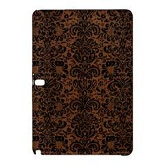 Damask2 Black Marble & Brown Wood (r) Samsung Galaxy Tab Pro 12 2 Hardshell Case by trendistuff