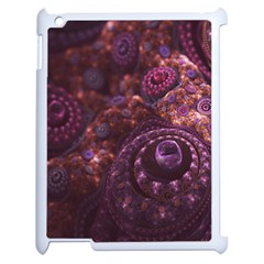 Buried Pirate Treasure Of Fractal Pearls And Coins Apple Ipad 2 Case (white) by beautifulfractals
