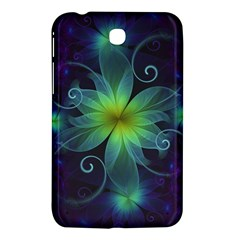 Blue And Green Fractal Flower Of A Stargazer Lily Samsung Galaxy Tab 3 (7 ) P3200 Hardshell Case  by jayaprime