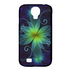 Blue And Green Fractal Flower Of A Stargazer Lily Samsung Galaxy S4 Classic Hardshell Case (pc+silicone) by jayaprime