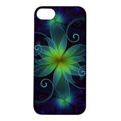 Blue And Green Fractal Flower Of A Stargazer Lily Apple Iphone 5s/ Se Hardshell Case by beautifulfractals