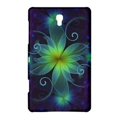 Blue And Green Fractal Flower Of A Stargazer Lily Samsung Galaxy Tab S (8 4 ) Hardshell Case  by beautifulfractals