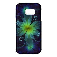 Blue And Green Fractal Flower Of A Stargazer Lily Samsung Galaxy S7 Hardshell Case  by jayaprime