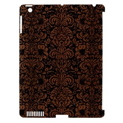 Damask2 Black Marble & Brown Wood Apple Ipad 3/4 Hardshell Case (compatible With Smart Cover) by trendistuff