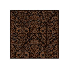Damask2 Black Marble & Brown Wood Acrylic Tangram Puzzle (4  X 4 )