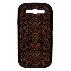 Damask2 Black Marble & Brown Wood Samsung Galaxy S Iii Hardshell Case (pc+silicone) by trendistuff