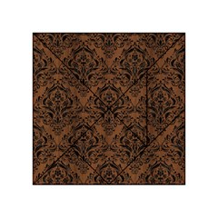 Damask1 Black Marble & Brown Wood (r) Acrylic Tangram Puzzle (4  X 4 )
