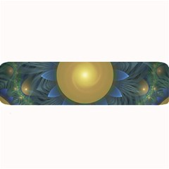 Beautiful Orange & Blue Fractal Sunflower Of Egypt Large Bar Mats by beautifulfractals