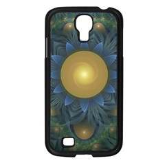 Beautiful Orange & Blue Fractal Sunflower Of Egypt Samsung Galaxy S4 I9500/ I9505 Case (black) by beautifulfractals