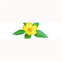 Yellow Flower With Leaves Photo Large Bar Mats by dflcprints