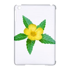 Yellow Flower With Leaves Photo Apple Ipad Mini Hardshell Case (compatible With Smart Cover) by dflcprints