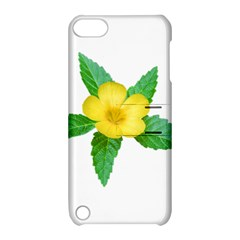 Yellow Flower With Leaves Photo Apple Ipod Touch 5 Hardshell Case With Stand by dflcprints
