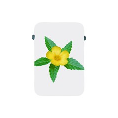 Yellow Flower With Leaves Photo Apple Ipad Mini Protective Soft Cases by dflcprints