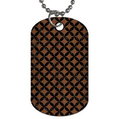 Circles3 Black Marble & Brown Wood (r) Dog Tag (two Sides) by trendistuff