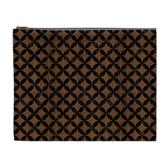Circles3 Black Marble & Brown Wood (r) Cosmetic Bag (xl) by trendistuff