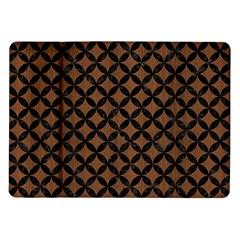 Circles3 Black Marble & Brown Wood (r) Samsung Galaxy Tab 10 1  P7500 Flip Case by trendistuff