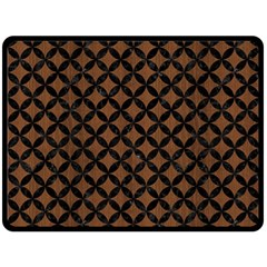 Circles3 Black Marble & Brown Wood (r) Double Sided Fleece Blanket (large) by trendistuff